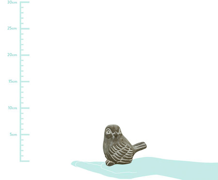 Adorno Looking Bird - Cinza | WestwingNow
