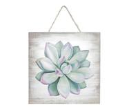 Placa de Madeira Estampada Lotus Flower | WestwingNow